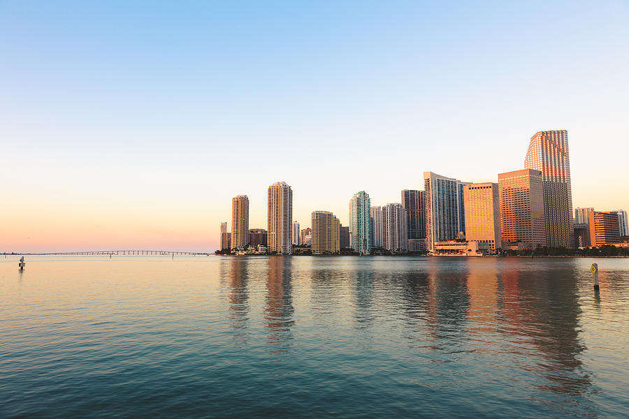 USA, Miami, Skyline at sunrise Photograph by Westend61