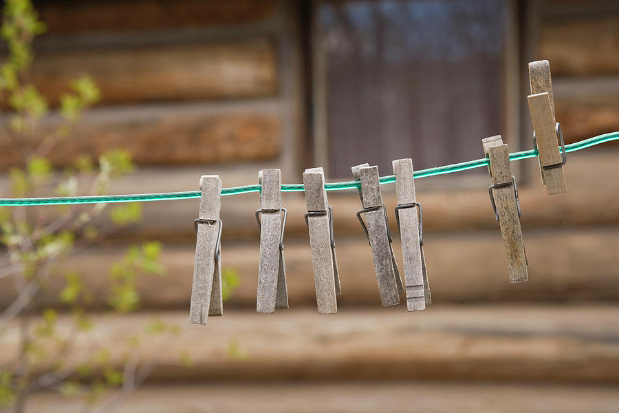 Americana Photograph - Usa, Montana Clothes Pins by Jaynes Gallery
