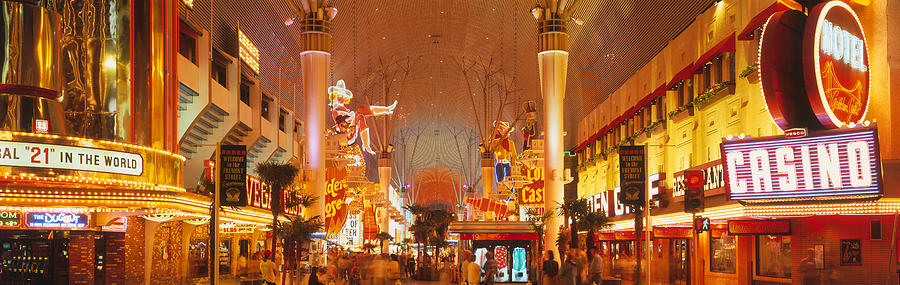 Color Image Photograph - Usa, Nevada, Las Vegas, Night by Panoramic Images