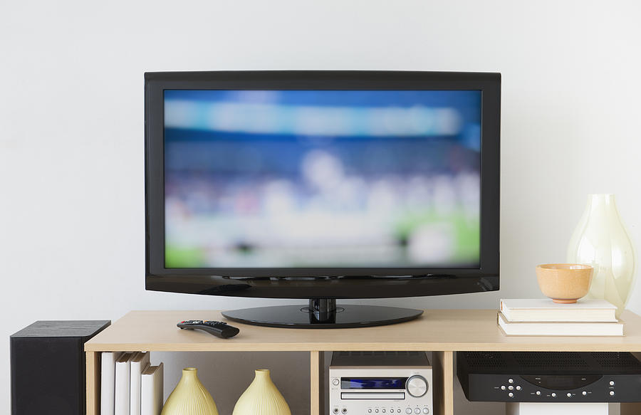 USA, New Jersey, Jersey City, Television set Photograph by Tetra Images