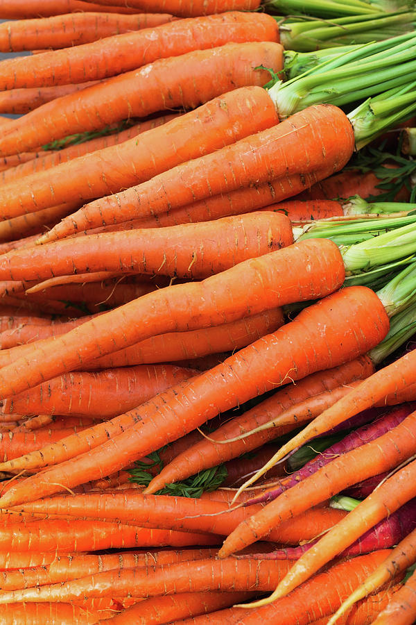 Usa, New York City, Fresh Carrots Photograph by Tetra Images