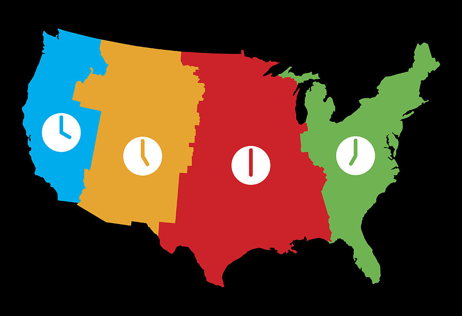 Usa Time Zones Map by JakeOlimb