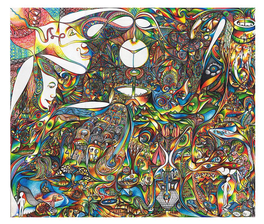 Mandala Drawing - Use Infinity by diNo