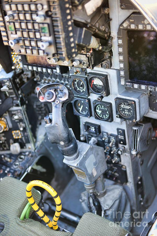 Usmc Av 8b Harrier Cockpit Photograph By Olga Hamilton