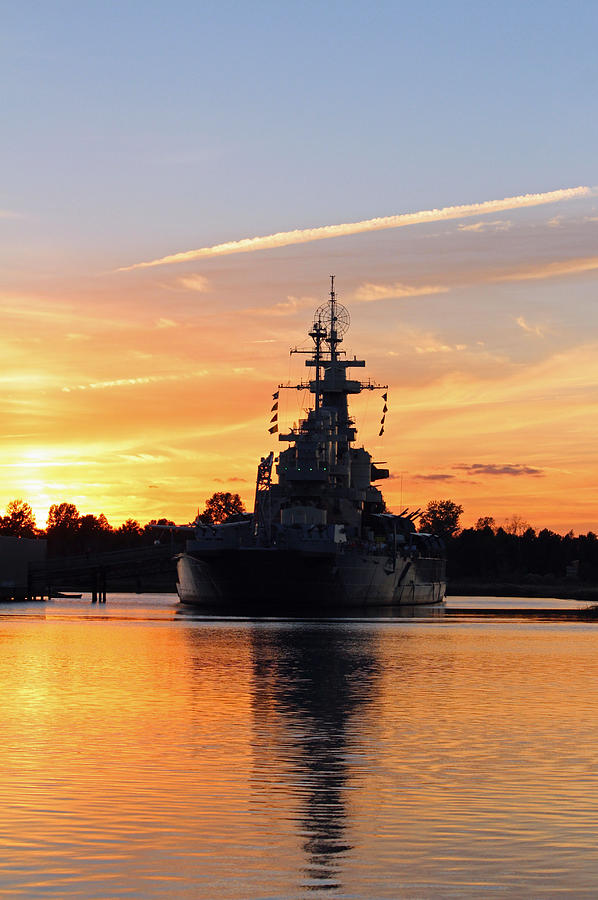 Wilmington Photograph - Uss Battleship by Cynthia Guinn