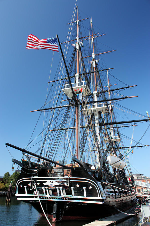 Uss Constitution Photograph - Uss Constitution by Kristin Elmquist