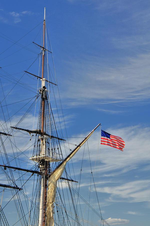 Boston Photograph - Uss Constitution Mast by Joann Vitali