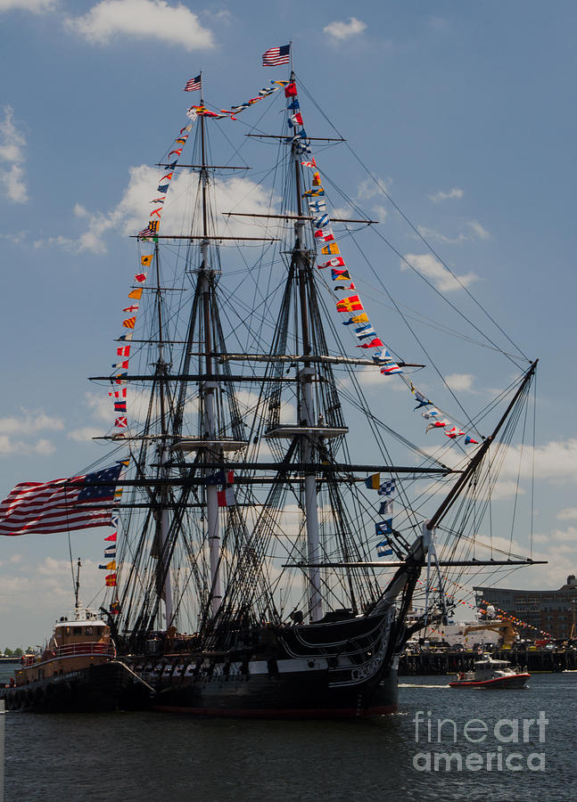 Boat Photograph - Uss Constitution by Mike Ste Marie
