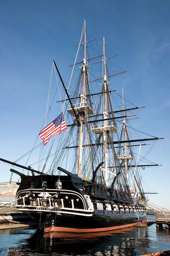 Harbors Photograph - Uss Constitution by Tim Laman