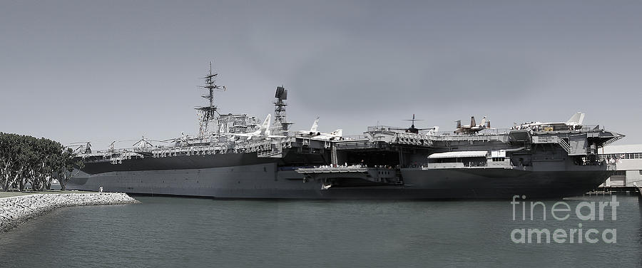 Uss Midway Photograph - Uss Midway by Russell Christie