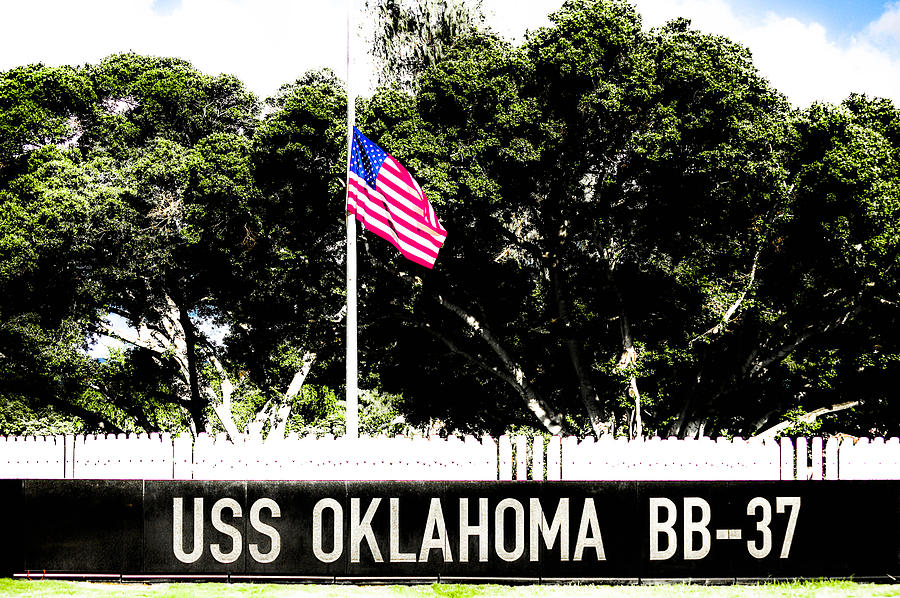 World War 1 Era Battleship Photograph - Uss Oklahoma Bb-37 by Lisa Cortez