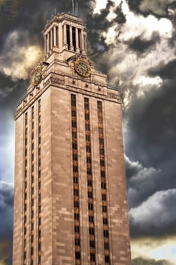 Ut Tower Photograph - Ut Tower by Tejas Prints