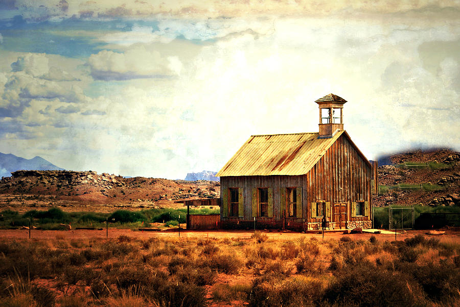 Moab Photograph - Utah Schoolhouse by Marty Koch