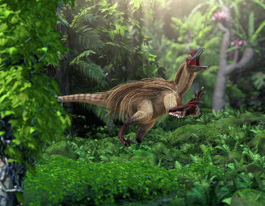 Utahraptor Ostrommaysorum Photograph - Utahraptor Dinosaur by Roger Harris