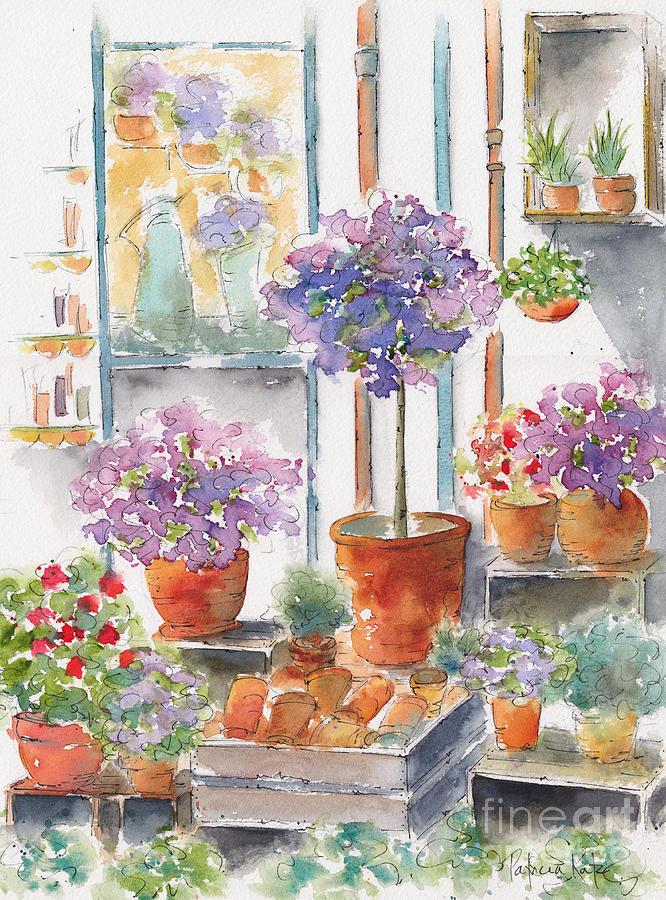Impressionism Painting - Uzes Market by Pat Katz