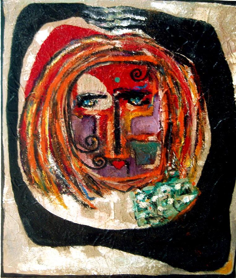 Contemporary Painting - V. by Andrea Vazquez-Davidson