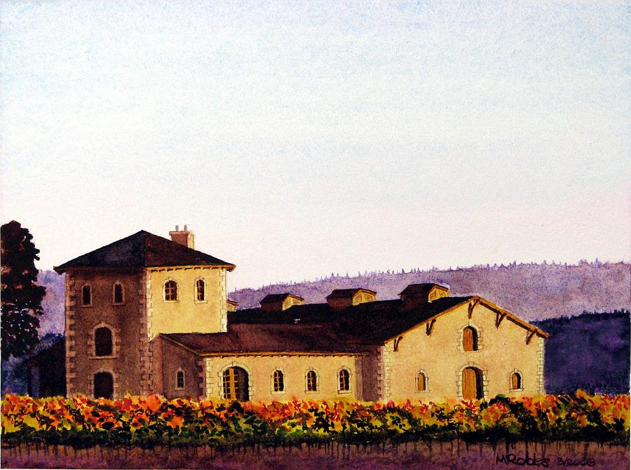 V. Sattui Painting - V. Sattui Winery by Mike Robles