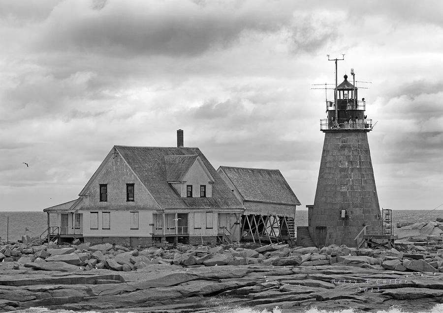 Lighthouse Photograph - Vacant On The Ocean by Betsy Knapp