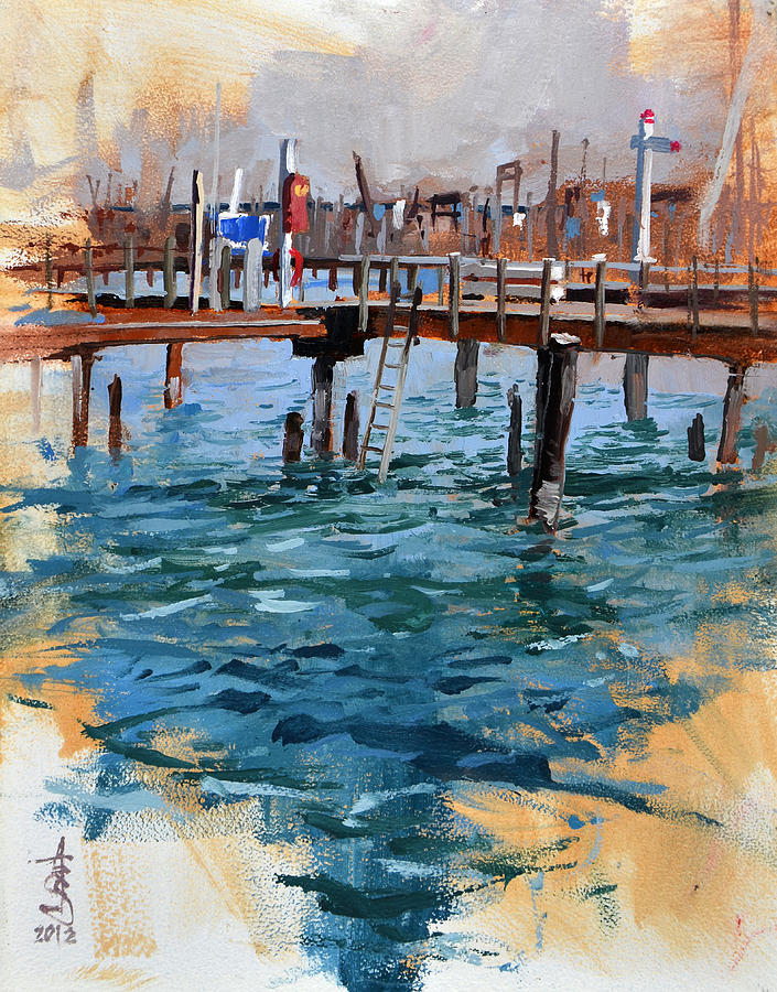 Plein Air Painting - Vacant Pier by Anthony Sell