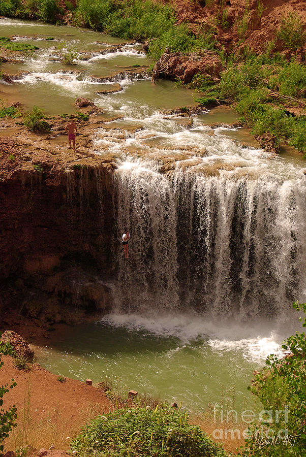 Vacation Photograph - Vacation At Lower Navajo Falls by MAD Art and Circus