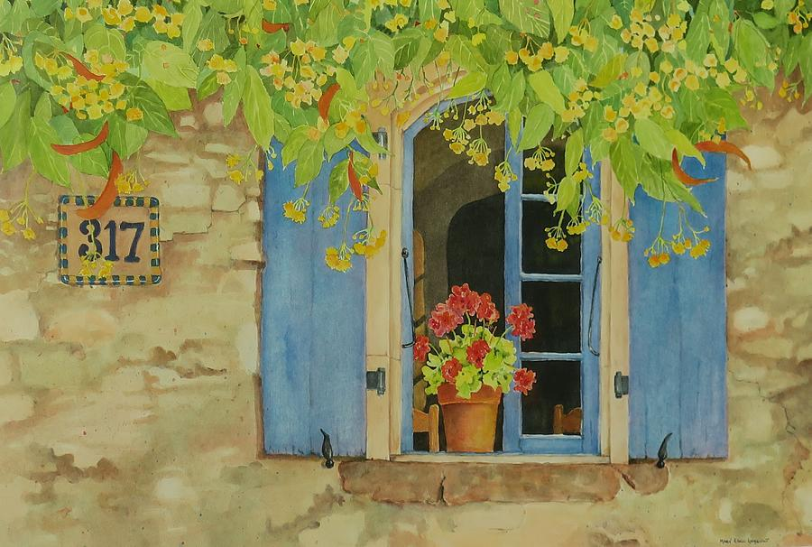 France Painting - Vacation Memory by Mary Ellen Mueller Legault