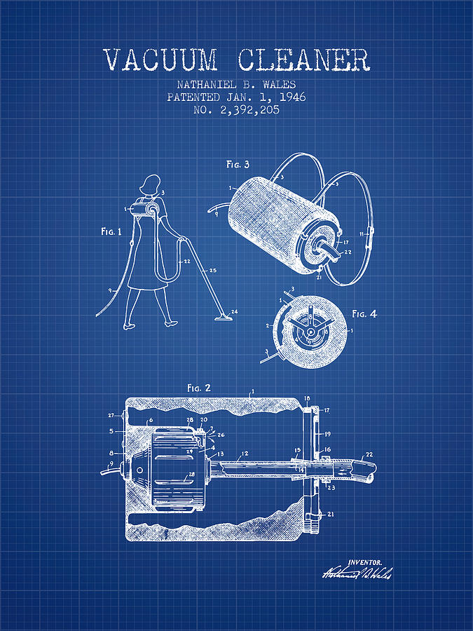 Vacuum cleaner patent from 1946 blueprint digital art by aged pixel vacuum cleaner digital art vacuum cleaner patent from 1946 blueprint by aged pixel malvernweather Choice Image