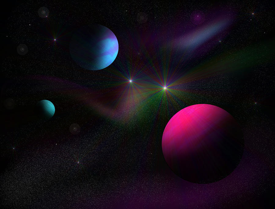 Dwarf Planets Digital Art - Vacuum Of Space by Ricky Haug
