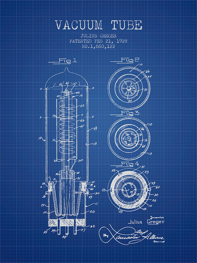 Vacuum tube patent from 1928 blueprint digital art by aged pixel electron tube digital art vacuum tube patent from 1928 blueprint by aged pixel malvernweather Gallery