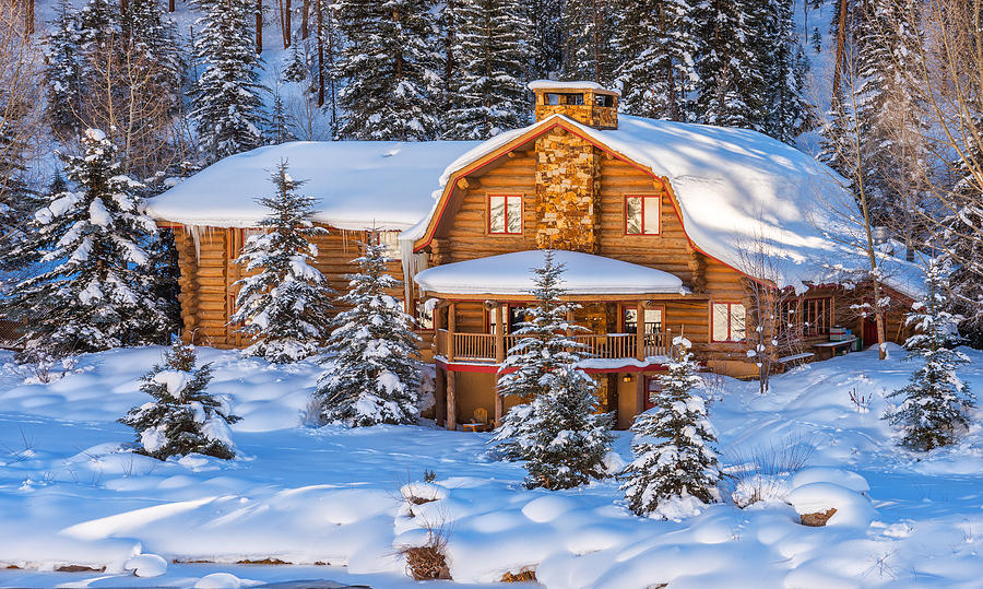 Dream Home Photograph - Vail Chalet by Darren  White