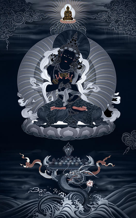 Vajradhara Painting - Vajradhara And The Realm Beyond All Words by Ben Christian