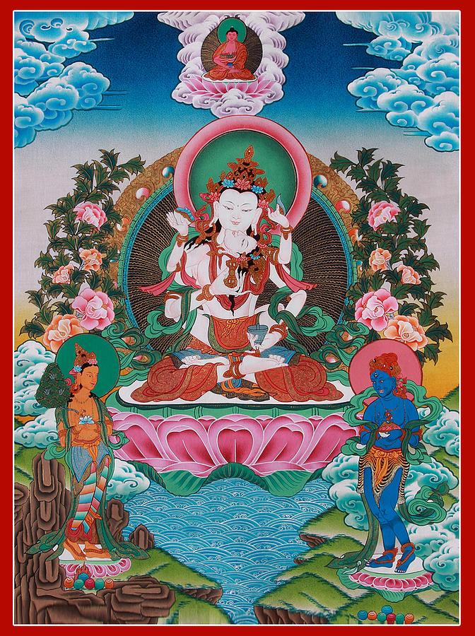 Vajrasattva Painting - Vajrasattva Sexual Union Art by Ts