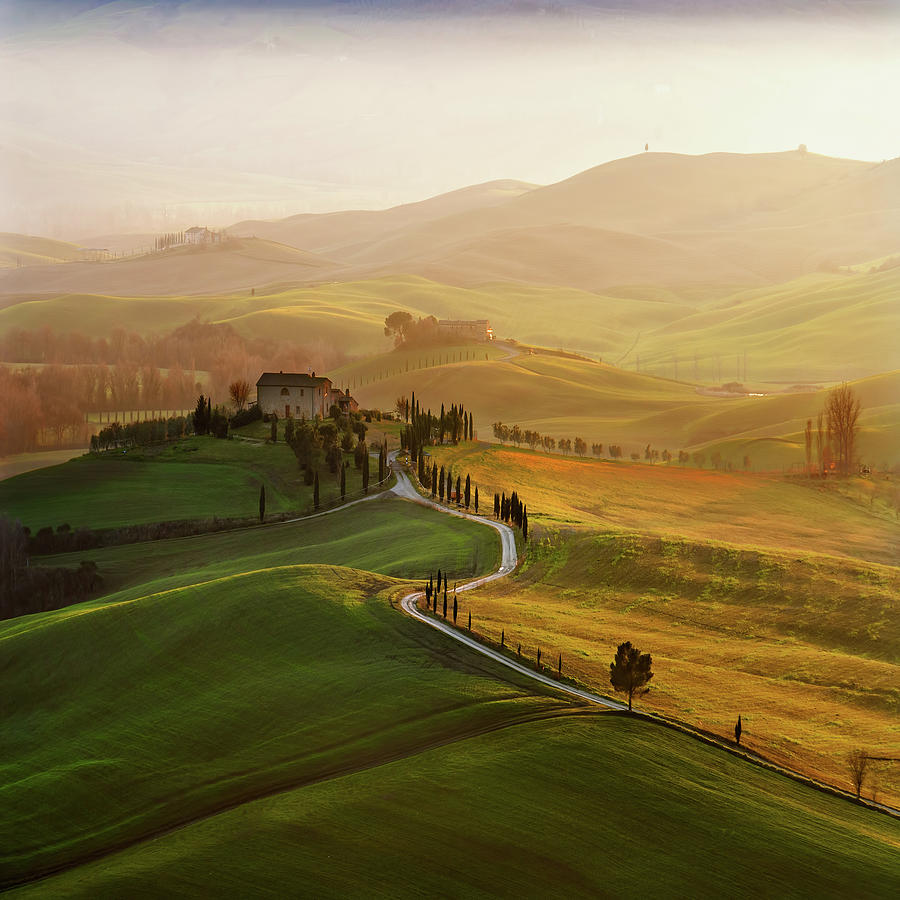 Tuscan Photograph - Val D\orcia by Jarek Pawlak