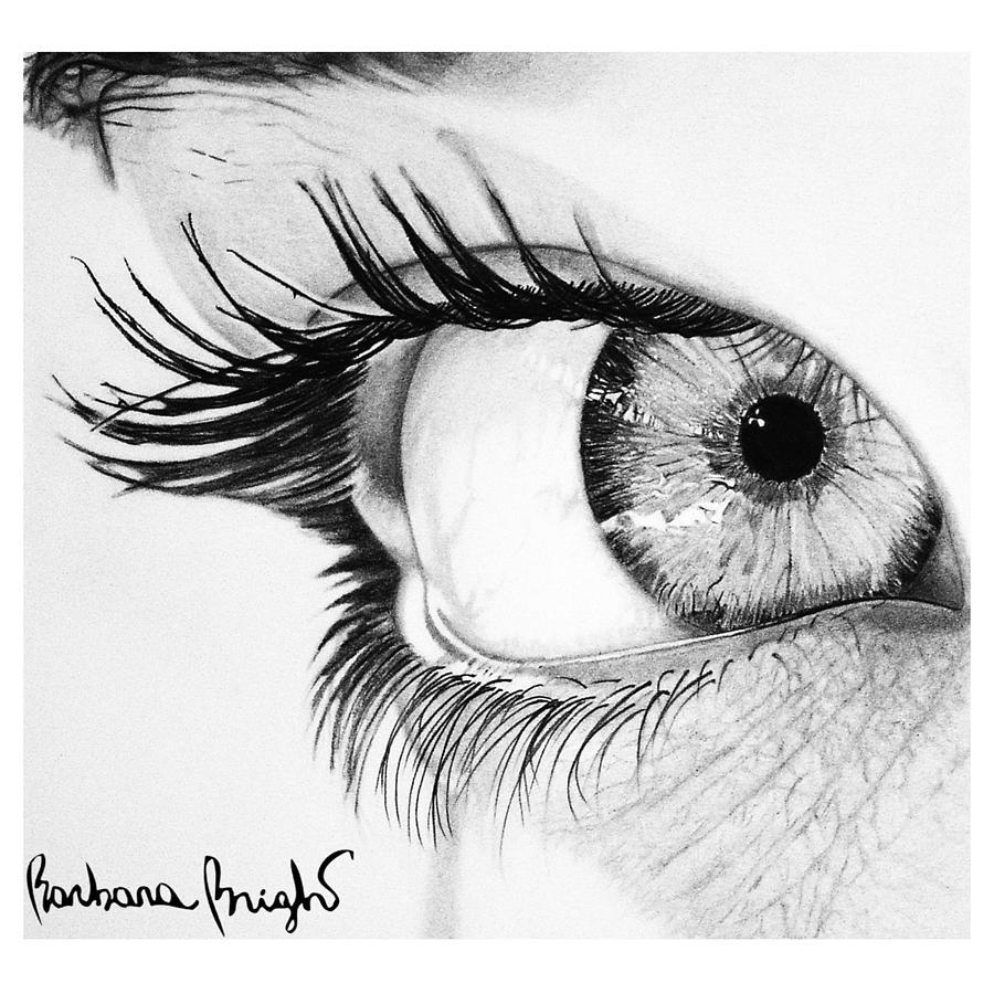 Eye Drawing - Valentina by Barbara Bright