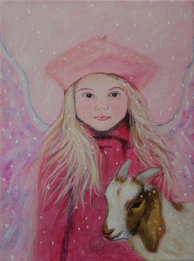Angel Painting - Valentina Little Angel Of Perseverance And Prosperity by The Art With A Heart By Charlotte Phillips
