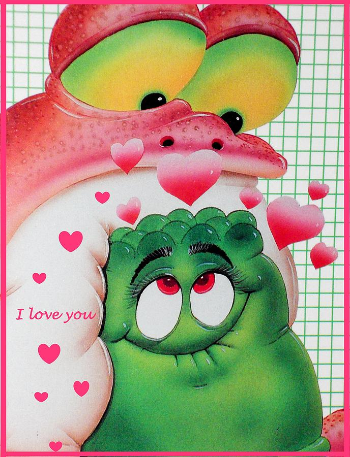 Valentine's Photograph - Valentine  Card I Love You by Donatella Muggianu