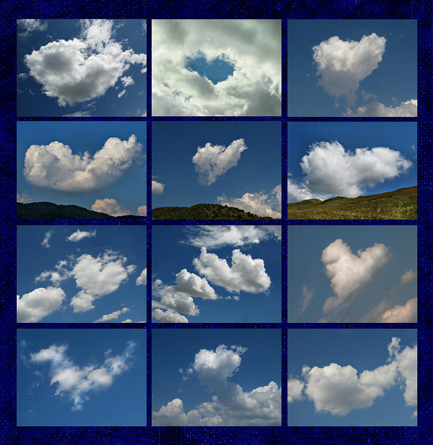 Valentine - Clouds For Sale Collage Photograph by Daliana Pacuraru