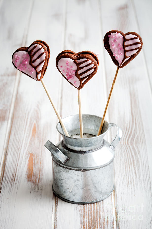 Assorted Photograph - Valentine Cookie Pops by Kati Finell