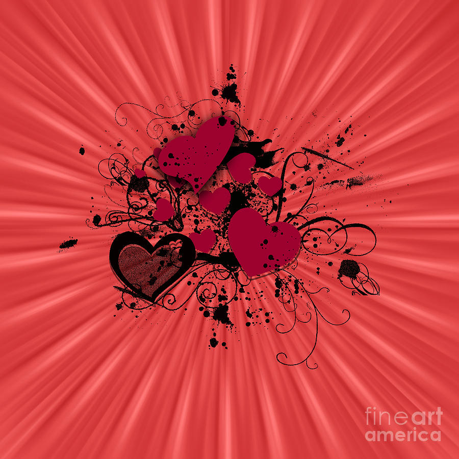 Abstract Photograph - Valentine Day Illustration by Darren Fisher