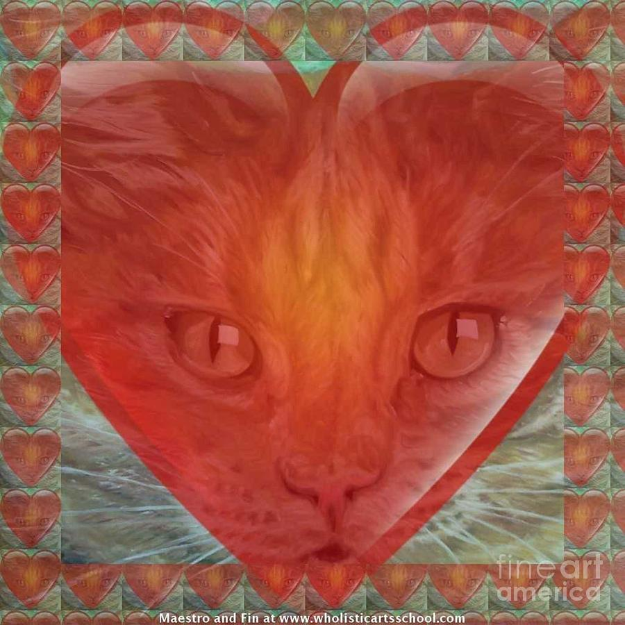 Cat Valentine Mixed Media - Valentine Gallery Number 3 by PainterArtist FIN