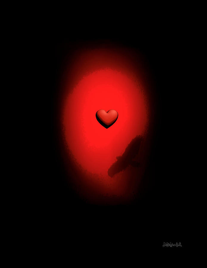 Love Digital Art - Valentine Heart 2 by Brian D Meredith