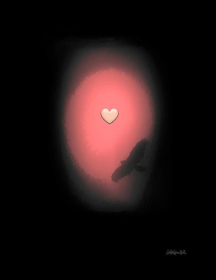 Love Digital Art - Valentine Heart 3 by Brian D Meredith