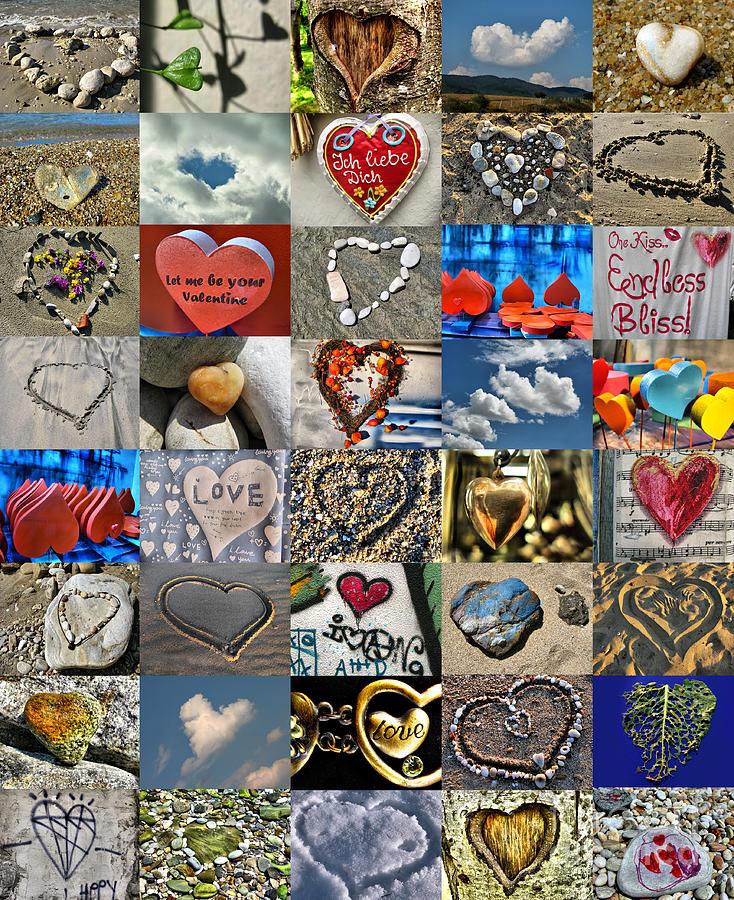 Valentine Photograph - Valentine - Hearts And Memories   by Daliana Pacuraru