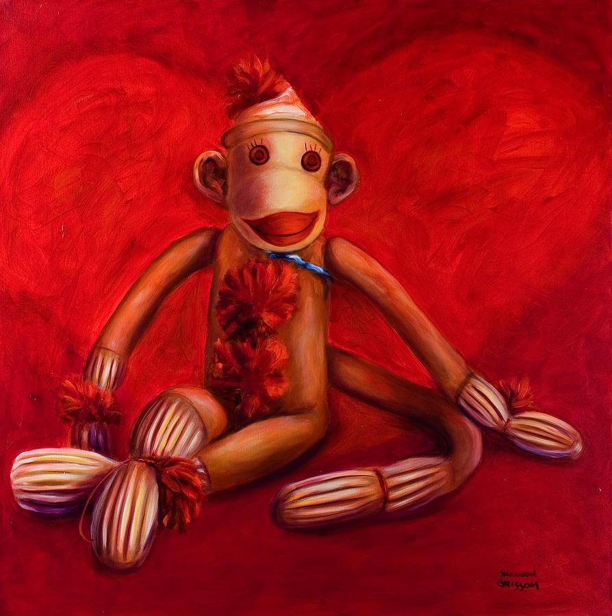 Children Painting - Valentine by Shannon Grissom