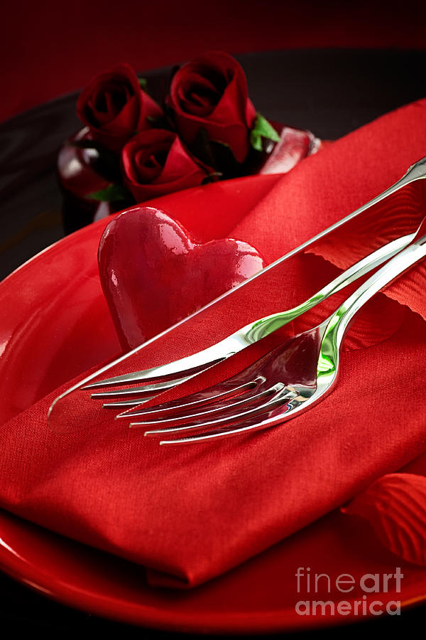 Anniversary Photograph - Valentines Day Dinner by Mythja  Photography