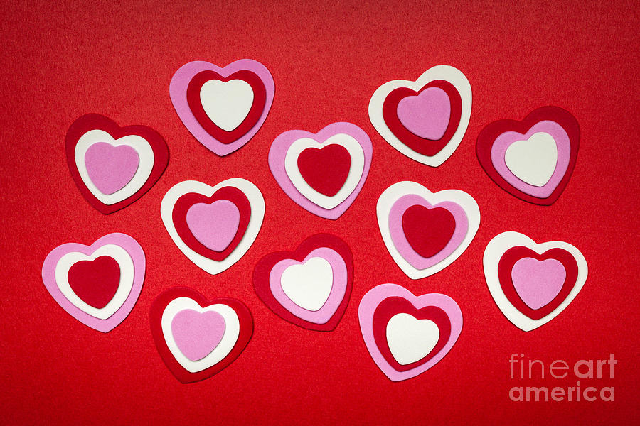 Heart Photograph - Valentines Day Hearts by Elena Elisseeva