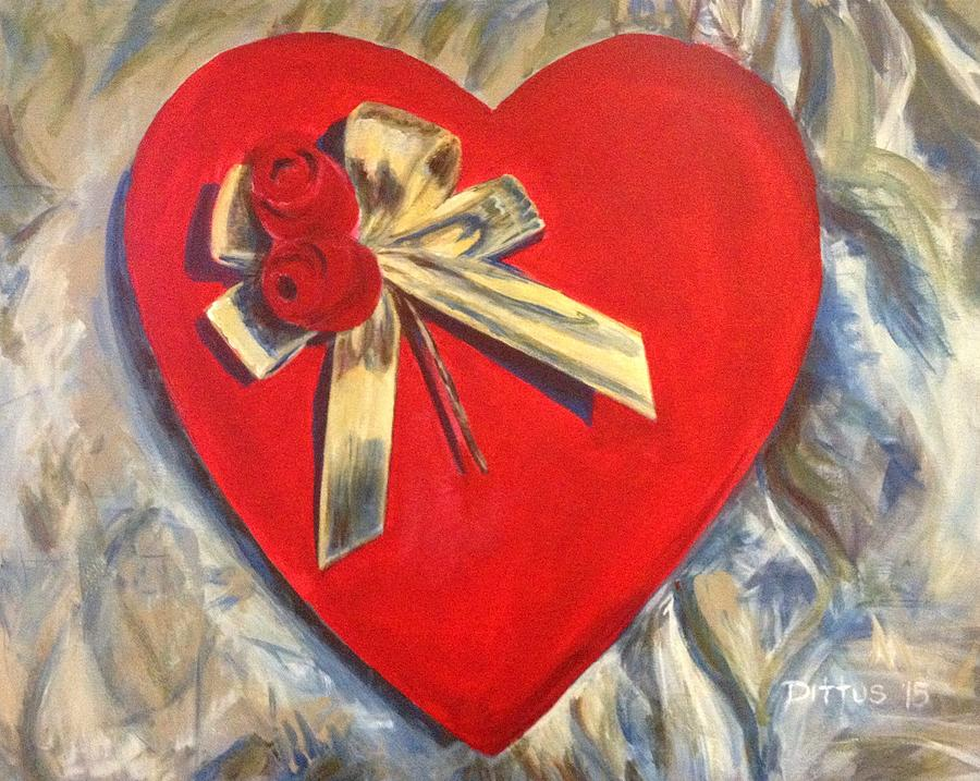 Valentine Painting - Valentines Heart by Chrissey Dittus