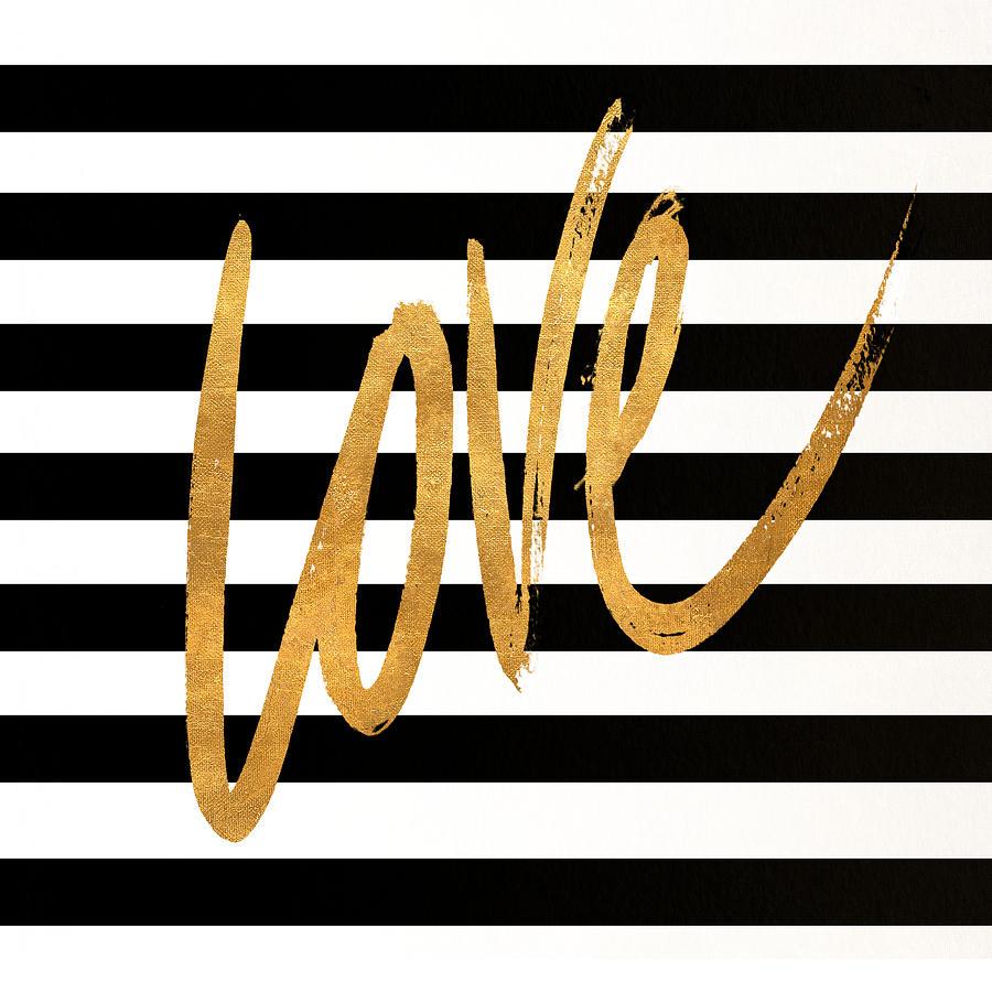 Valentines Digital Art - Valentines Stripes Iv by South Social Graphics