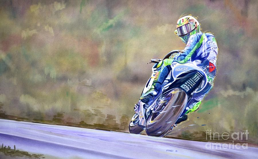 Valentino Rossi Ciao Ciao Everyone Painting by Marco Ippaso – Valentino Rossi Birthday Card