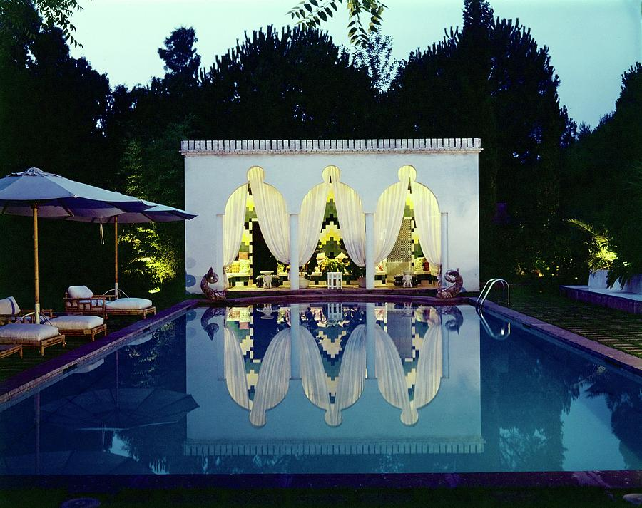 Valentinos Swimming Pool Photograph by Horst P. Horst