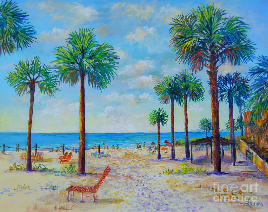 Siesta Key Painting - Valeries View Of Siesta Key by Lou Ann Bagnall
